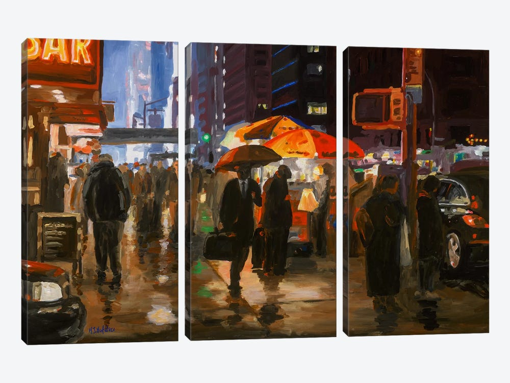 6th Avenue, New York by HJ Hofstra 3-piece Art Print