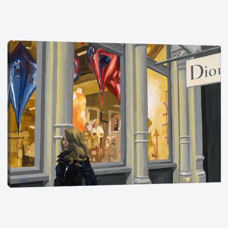 Shopping Canvas Print #HOF3} by HJ Hofstra Art Print