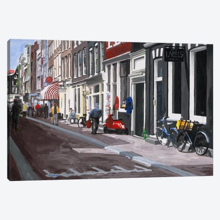 Street Canvas Print #HOF4} by HJ Hofstra Canvas Wall Art