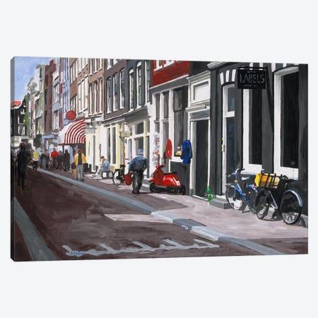 Street Canvas Print #HOF4} by HJ Hofstra Canvas Wall Art