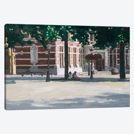 Under The Tree Canvas Print #HOF5} by HJ Hofstra Canvas Wall Art
