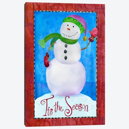Colored Up Snowman Canvas Print #HOL11} by Ali Lynne Canvas Print
