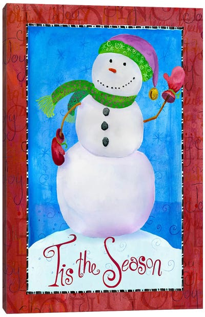 Colored Up Snowman Canvas Art Print
