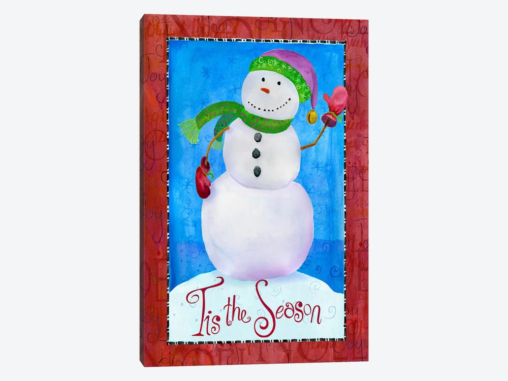 Colored Up Snowman by Ali Lynne 1-piece Art Print