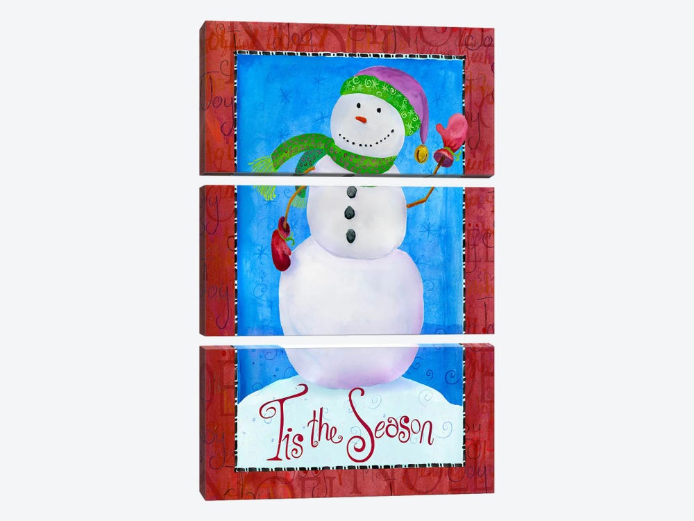 Colored Up Snowman by Ali Lynne 3-piece Art Print