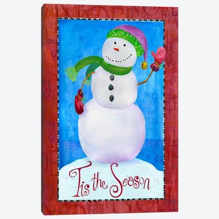 Colored Up Snowman Canvas Print #HOL11} by Ali Lynne Canvas Print