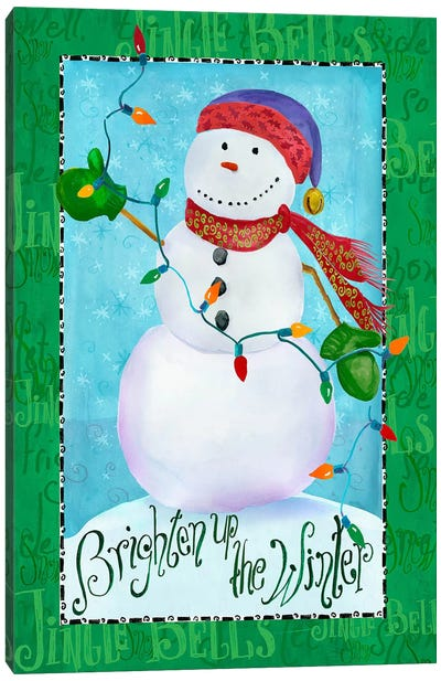 Brighten up Snowman Canvas Art Print