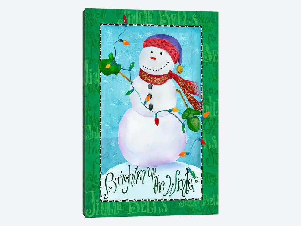 Brighten up Snowman by Ali Lynne 1-piece Canvas Art