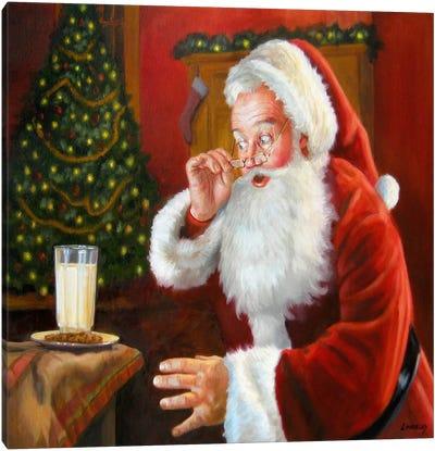 Santa Milk and Cookies Canvas Art Print