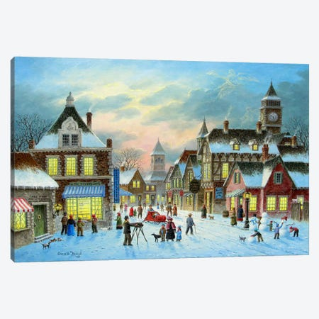 Town Village II Canvas Print #HOL19} by Dennis Lewan Art Print
