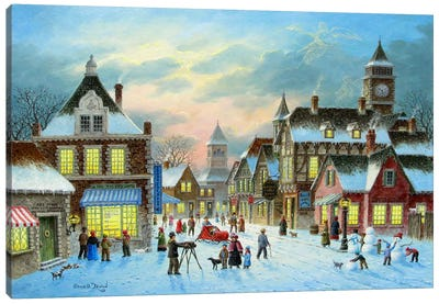 Town Village II Canvas Art Print
