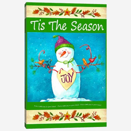 Snowman Season of Joy Canvas Print #HOL24} by Melinda Hipsher Art Print