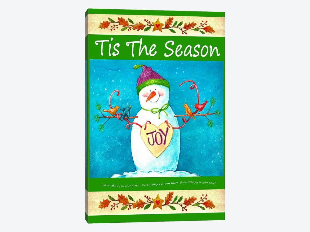 Snowman Season of Joy by Melinda Hipsher 1-piece Canvas Art Print