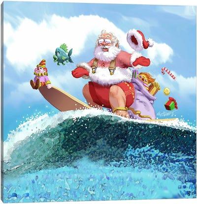 Santa's Vacation Canvas Art Print