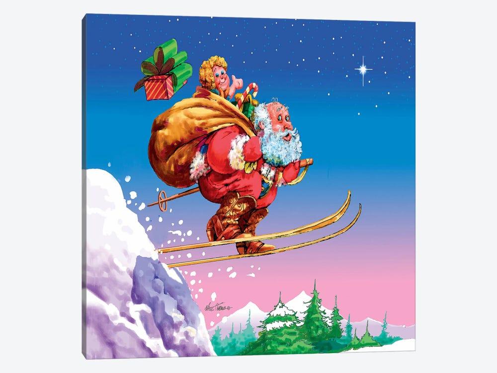 Santa Ski by Nate Owens 1-piece Canvas Print