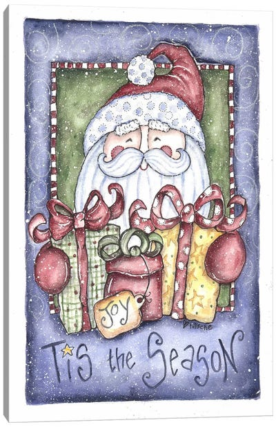 Tis the Season Santa Canvas Art Print