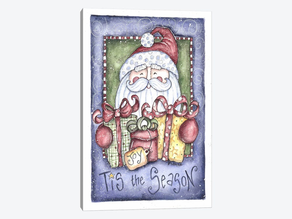 Tis the Season Santa by Shelly Rasche 1-piece Canvas Artwork