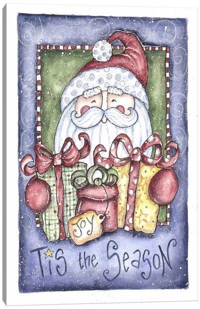 Tis the Season Santa Canvas Art Print