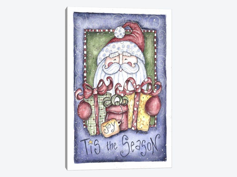 Tis the Season Santa by Shelly Rasche 1-piece Canvas Artwork
