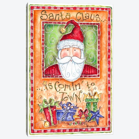 Santa Claus is Coming to Town Canvas Print #HOL42} by Shelly Rasche Canvas Wall Art