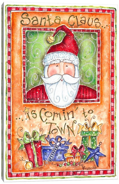 Santa Claus is Coming to Town Canvas Art Print