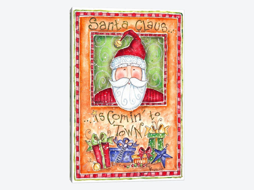Santa Claus is Coming to Town by Shelly Rasche 1-piece Canvas Art Print