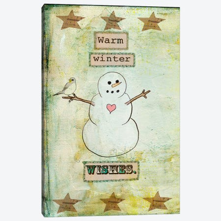 Warm Winter Wishes Canvas Print #HOL48} by Tammy Kushnir Canvas Wall Art