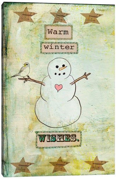 Warm Winter Wishes Canvas Art Print