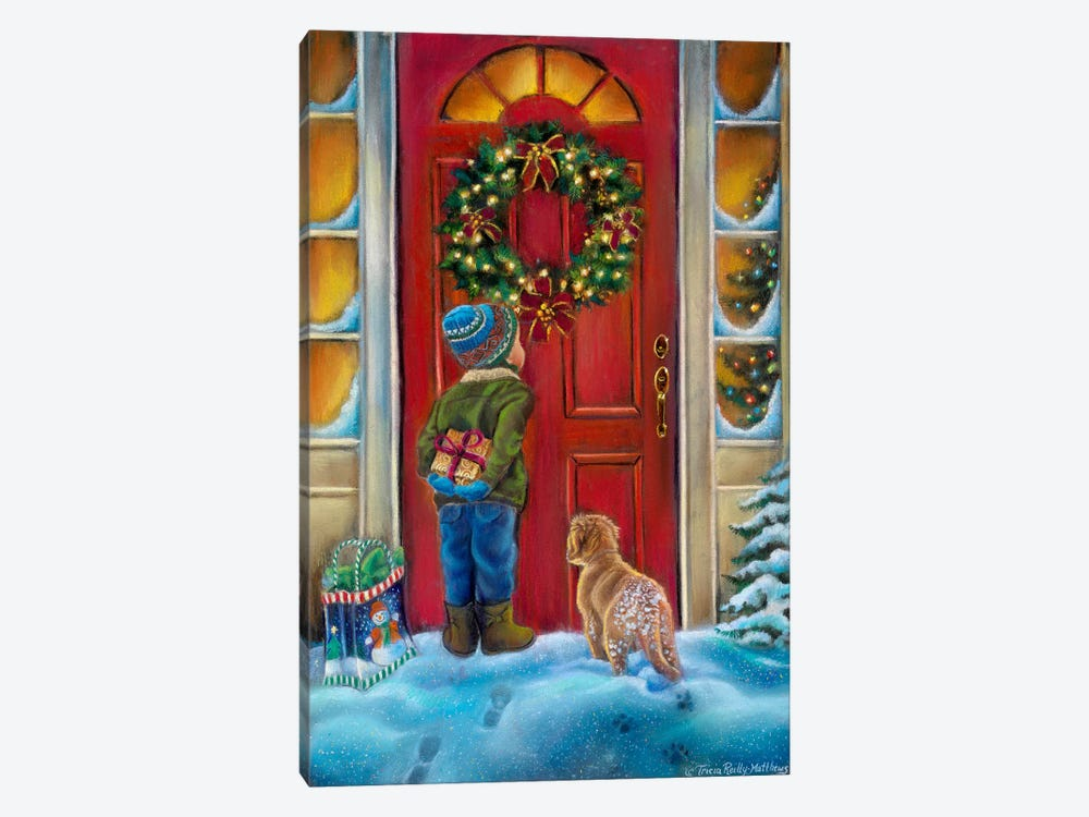 Home for the Holidays by Tricia Reilly-Matthews 1-piece Canvas Wall Art