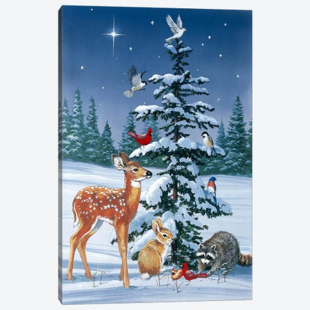 Christmas Gathering Canvas Print #HOL50} by William Vanderdasson Canvas Art Print