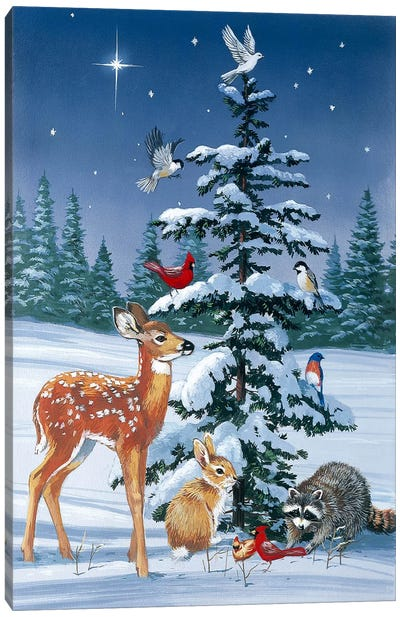 Christmas Gathering by William Vanderdasson Canvas Art Print