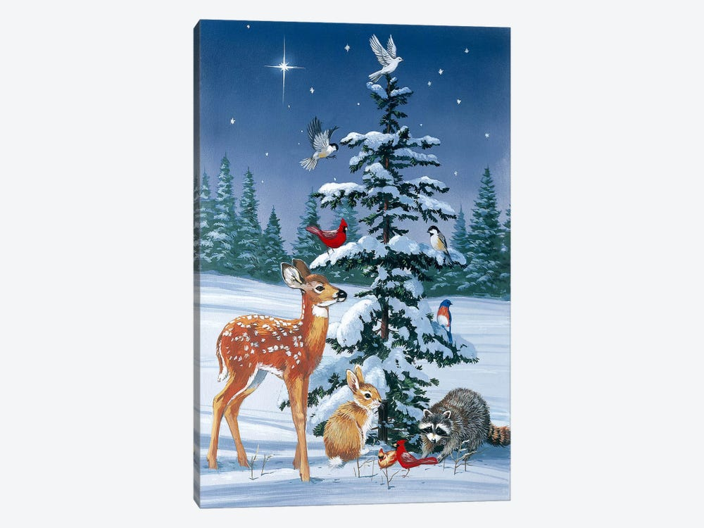 Christmas Gathering 1-piece Canvas Artwork