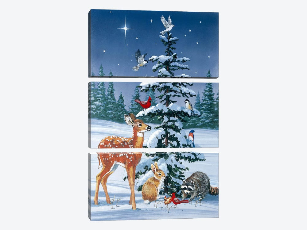 Christmas Gathering by William Vanderdasson 3-piece Canvas Artwork