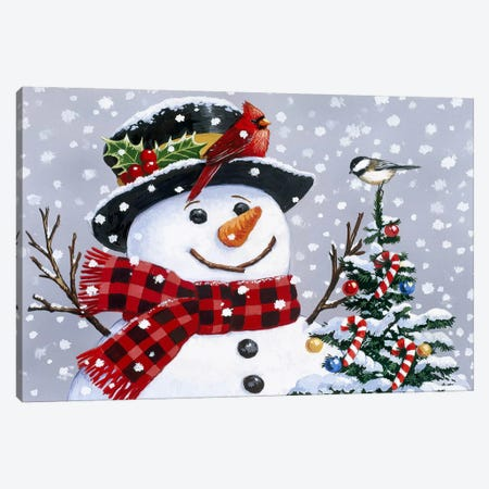 Snowman Canvas Print #HOL52} by William Vanderdasson Canvas Art Print