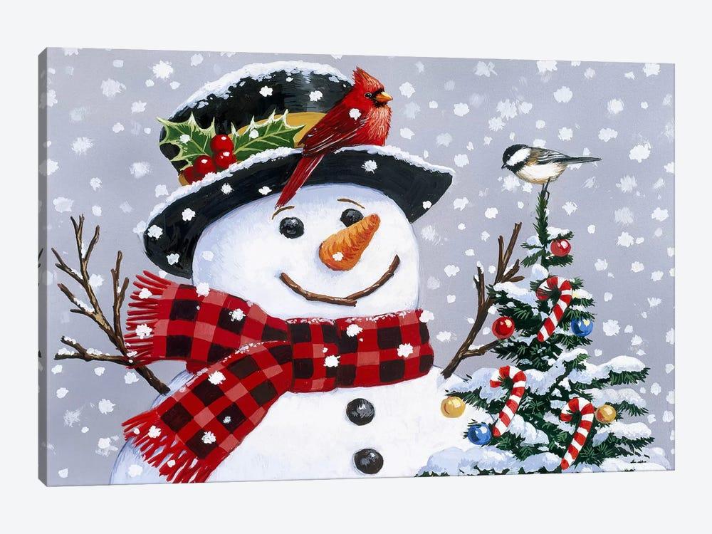 Snowman by William Vanderdasson 1-piece Canvas Artwork