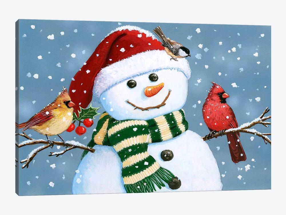 Santa Snowman by William Vanderdasson 1-piece Canvas Artwork