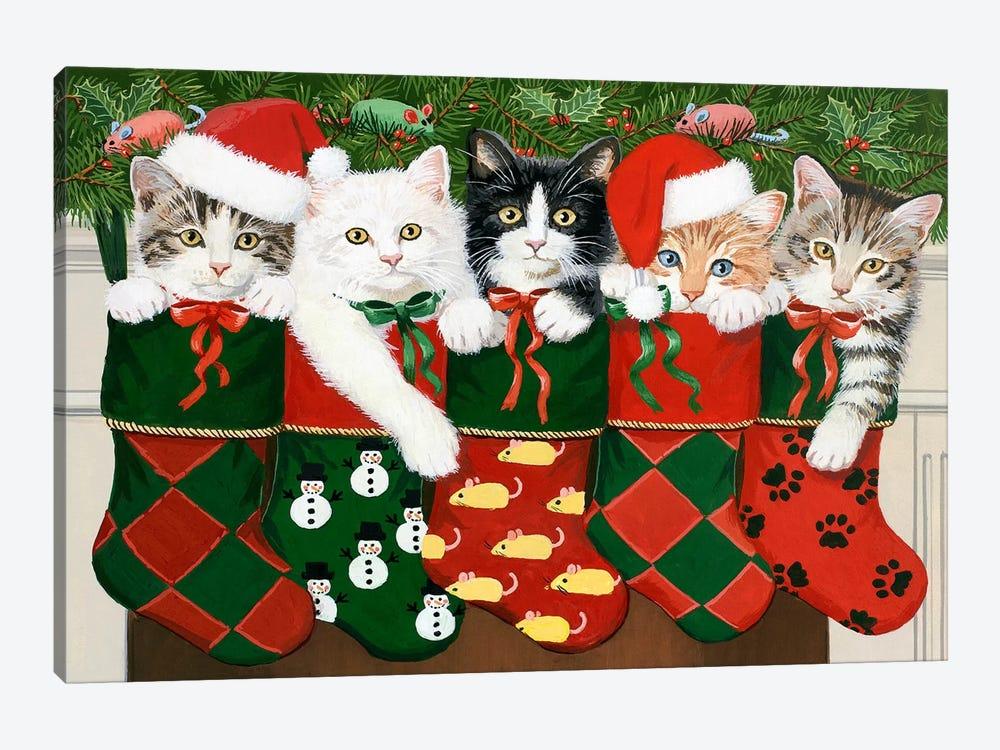 Christmas Kittens by William Vanderdasson 1-piece Art Print