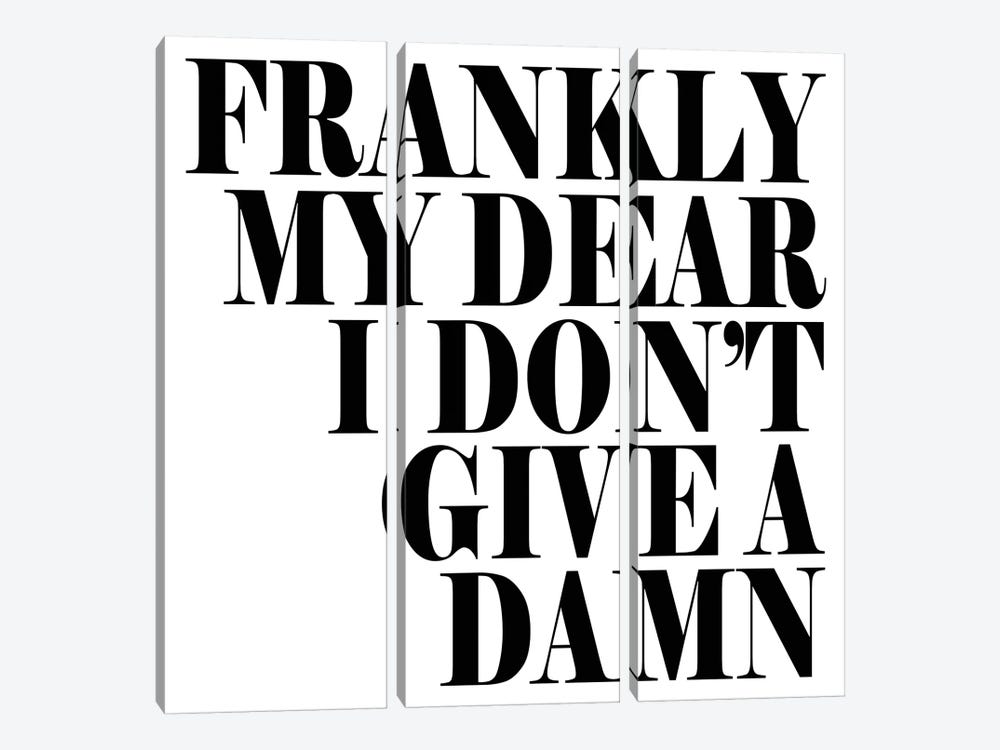 Frankly My Dear… by Honeymoon Hotel 3-piece Art Print