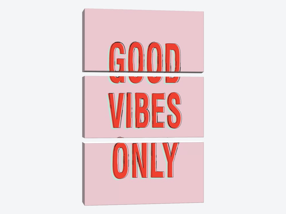 Good Vibes Only by Honeymoon Hotel 3-piece Canvas Art