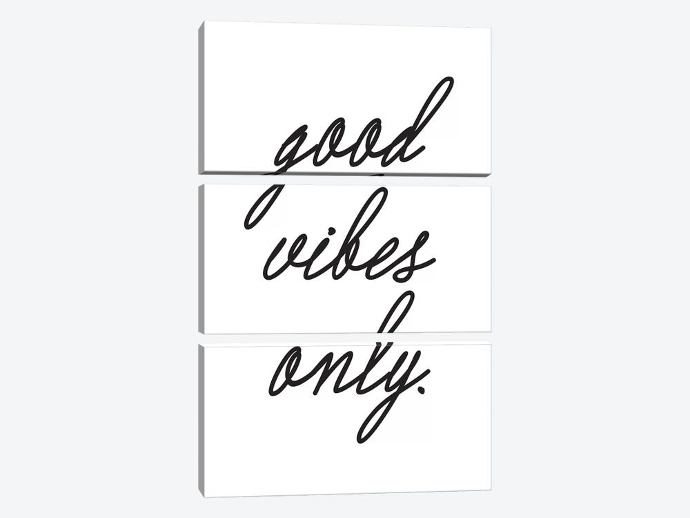 Good Vibes Only. (Cursive) by Honeymoon Hotel 3-piece Canvas Print