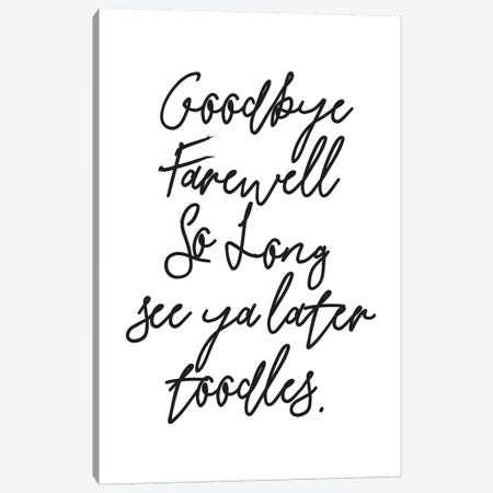 Goodbyes Canvas Print #HON109} by Honeymoon Hotel Canvas Print