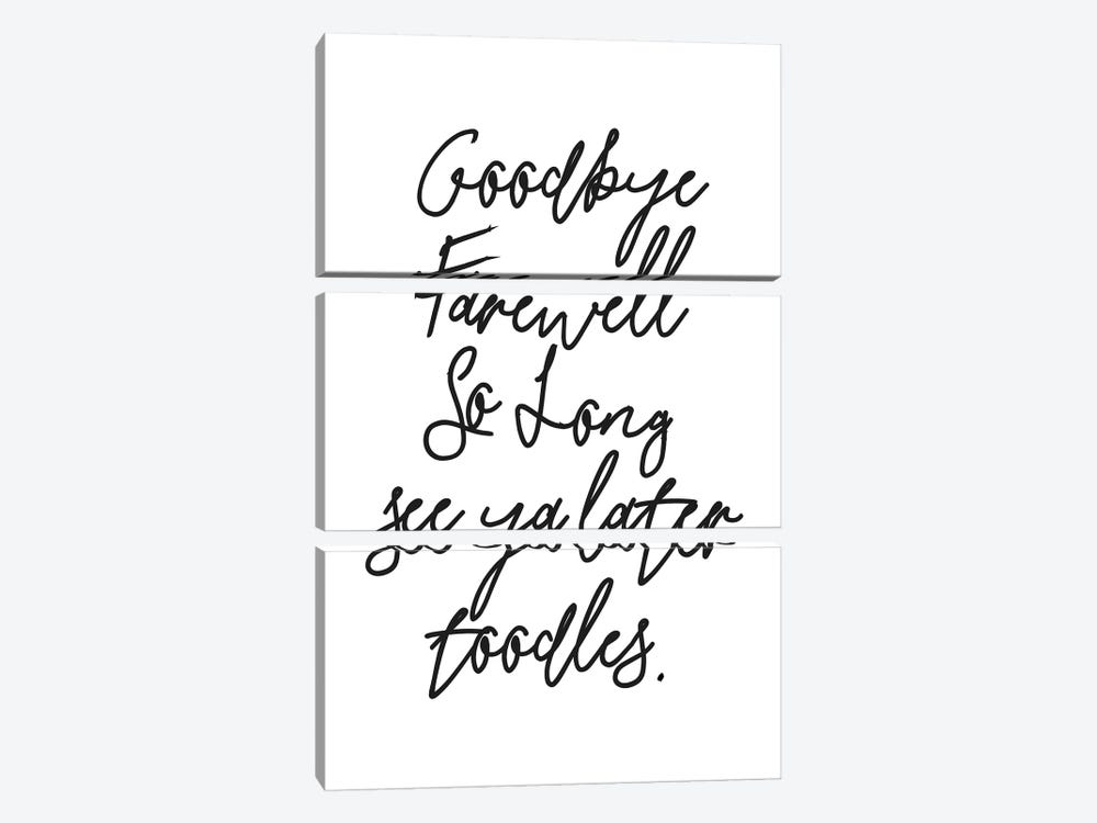 Goodbyes by Honeymoon Hotel 3-piece Canvas Wall Art