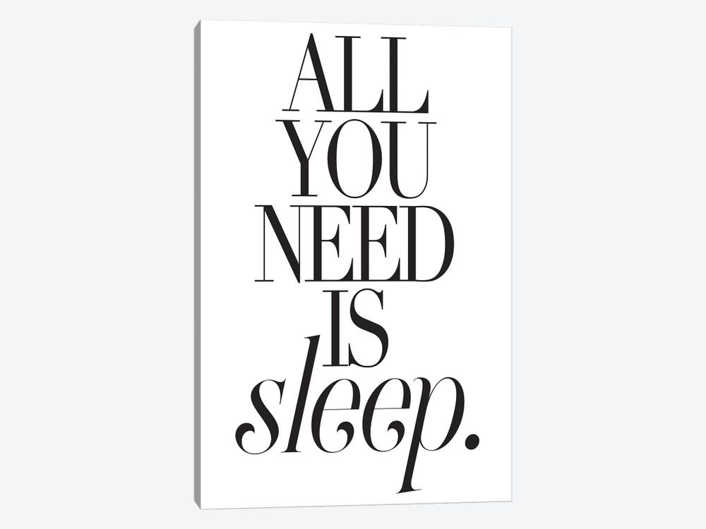 All You Need Is Sleep 1-piece Canvas Art Print