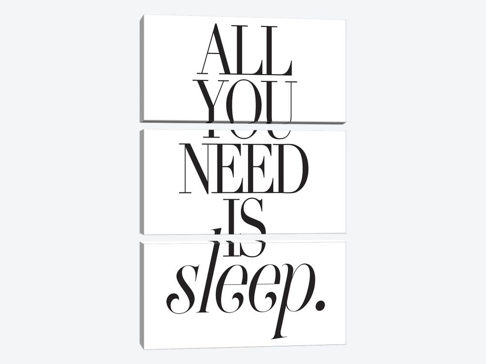 All You Need Is Sleep by Honeymoon Hotel 3-piece Art Print