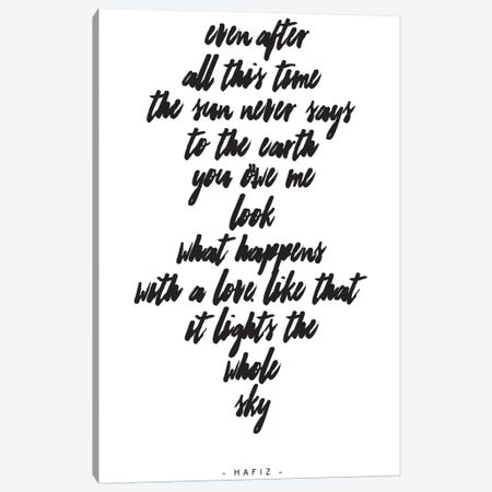 Hafiz Canvas Print #HON112} by Honeymoon Hotel Canvas Artwork