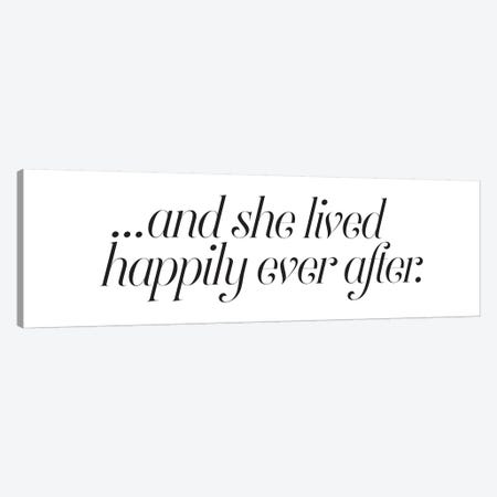 Happily Ever After Canvas Print #HON114} by Honeymoon Hotel Canvas Print