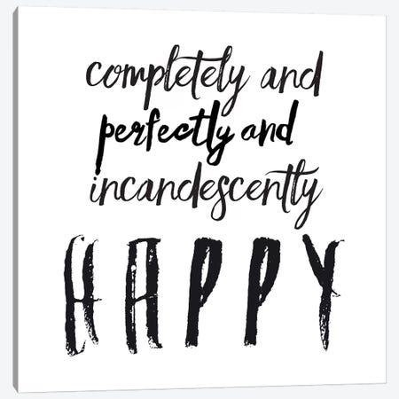 Happy Canvas Print #HON115} by Honeymoon Hotel Canvas Print
