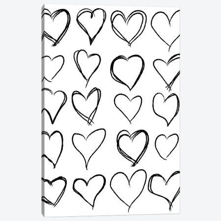Hearts Canvas Print #HON116} by Honeymoon Hotel Canvas Print