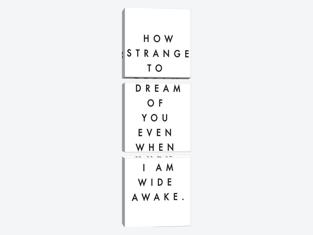 How Strange To Dream Of You by Honeymoon Hotel 3-piece Canvas Wall Art