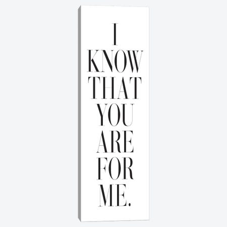 I Know That You Are For Me. Canvas Print #HON123} by Honeymoon Hotel Canvas Art Print